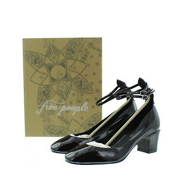 c9c6d198bff Free People Womens Lana Block Heel Leather Double Ankle Strap Shoes
