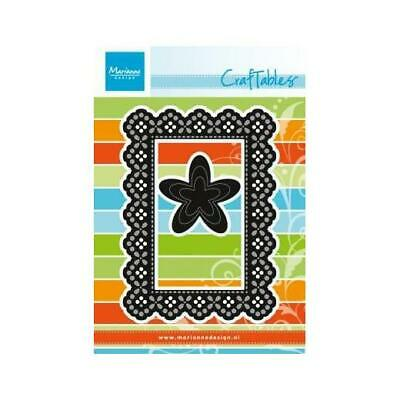 Marianne Design Craftables Cutting Dies - Rectangle Frame & Flowers CR1202