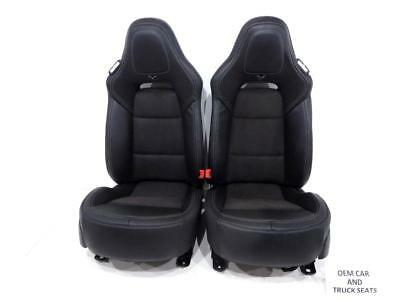 Chevy Corvette C7 Black Oem Leather Seats With Heat & Cooling 1999 - 2018