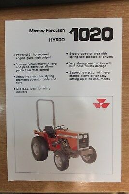 Agriculture/farming Precise Massey Ferguson 1010 Tractor Sales Brochure Spec Sheet Classic Vintage Tractor Easy To Use