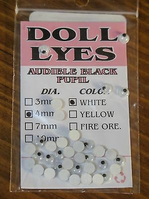 Doll Eyes Ø 10 mm 36 Stück Wapsi Wackelaugen Made in Japan 3 Farben Doll Eyes