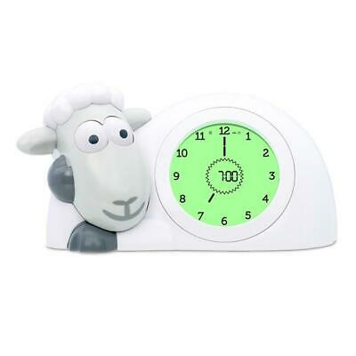 ZAZU Kids Sam the Sheep Childs Sleep Trainer Analogue/Digital Clock + Alarm GREY