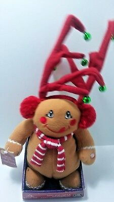 Singing Dancing 12 Inch Dan Dee Reindeer Gingerbread Man Plush I Want Candy