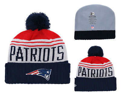 NEW ENGLAND PATRIOTS Knit Beanie Hat Cap Skyline Cuffed Pom Toque ... be5d06cb7c53