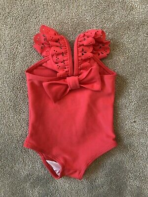 Lili Gaufrette Baby Girl Swimsuit Coral Pink 0-3 Months