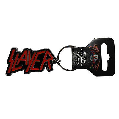 Slayer Metal Keychain - Logo Red Key Chain Keyring Key Ring FOB - OFFICIAL