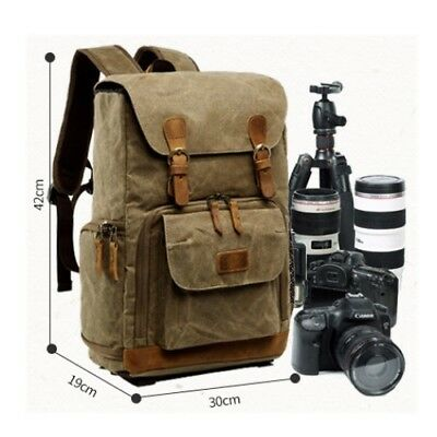DSLR SLR Camera Backpack Large Rucksack Waterproof Travel Laptop Lens Case Bags