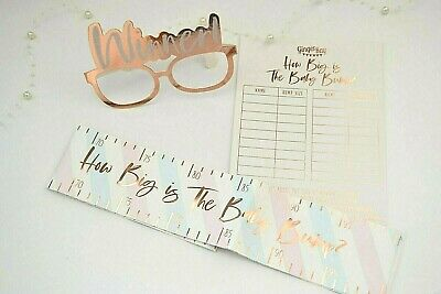 Baby shower game Ginger Ray How Big Is The Bump? Oh Baby range Rose Gold unisex