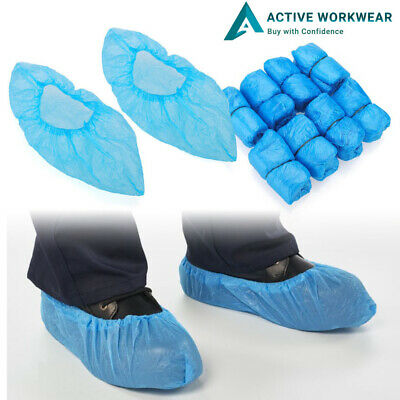 Blue Disposable Plastic Anti Slip Boot Safety Shoe Cover Cleaning Overshoes