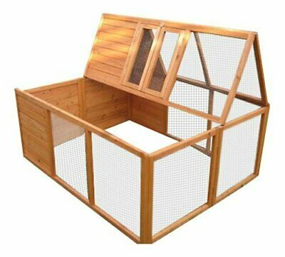 BUNNY BUSINESS totalmente plegable Sheltered conejo Run Hutch, 48-Inch