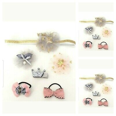 Baby Girls Small Hair Accessories Bobbles Small Hair Clips and Hairband (SALE)