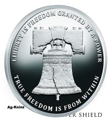 Monumental Truth Series # 3 - 1 oz 2017 Liberty Bell Proof Silver Shield 999 AG