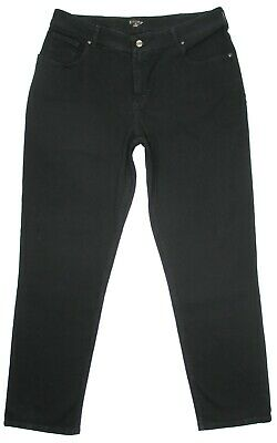 5ce0e12f Riders by Lee Black Jeans Plus Size 22W L Relaxed Tapered Stretch Womens  Denim