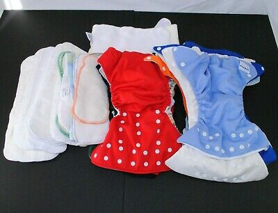 Lot of 13 Diaper Covers 15 Liners AIO Pocket Diapers Varying Sizes Fuzzi Bunz