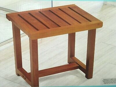 Conair Home - Solid Teak Spa Bench - Modern Look 14x12x14 - Shower Stool Bench