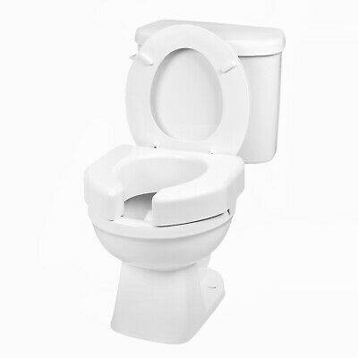 "Open Front Raised Toilet Seat - 3"" Booster Seat, Fits Round & Elongated Bowls"