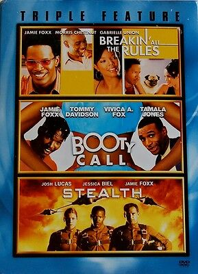 Jamie Foxx Triple Feature Breakin' All The Rules Booty Call Stealth NEW 3 DVD