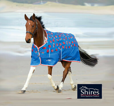 shires tempest lite ladybird print turnout horse rug all sizes