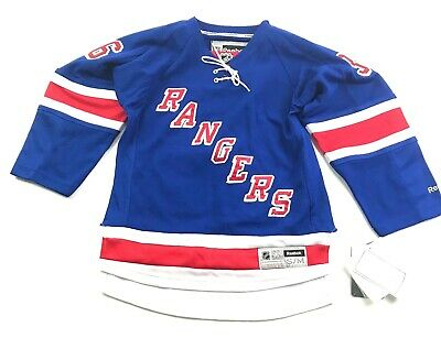 90010b15840 Reebok Youth New York Rangers Mats Zuccarello  36 Hockey Jersey Small    Medium