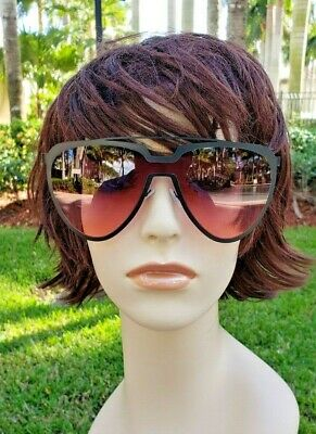 baf5cd8de Big Large Round Aviator Style Shades Color Lens Vintage Girls Womens  Sunglasses