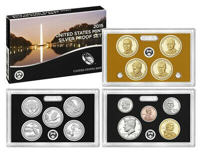 2015-S United States Mint SILVER PROOF SET 14-Coins w/Box + COA