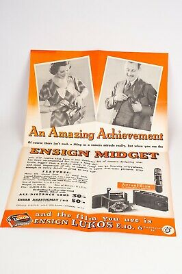 The new Ensign Midget seller display,advertising genuine c1934 poster 55,5x37cm