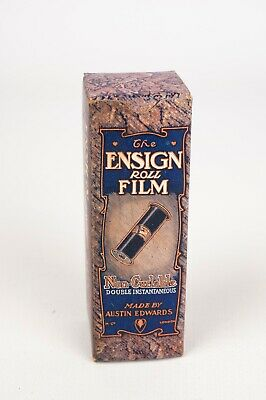 Ensign Roll Film Made by Austin Edwards (empty box)around 1913 very rare .