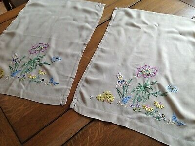 Antiques The Best Vintage Hand Embroidered Chair Back Unused And Unlaundered