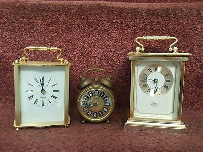 Set Of Three Vintage / Retro German Clocks Spares or Repairs
