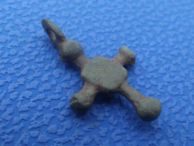 Viking Ancient Cross Pendant C.9th-13th Century AD / Medieval Relic.