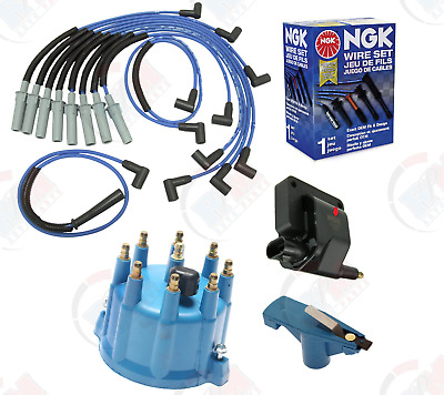 Blue Streak Tune Up Kit w// NGK Wires for 1985-1993 Ford Mustang 5.0 Mark VII