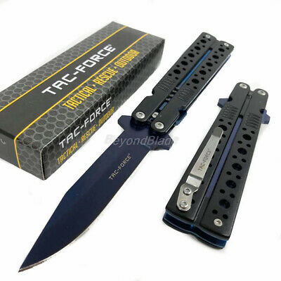 TAC-FORCE Butterfly Style Spring Assisted Survival Camping Rescue Pocket Knife