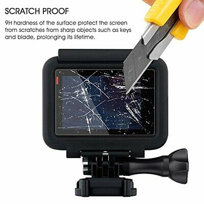 Tempered Glass LCD Display Screen Protector for GoPro Hero 7 6 5 Lens Cover Cap