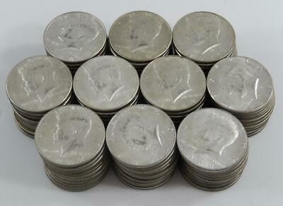1965-1969 Kennedy 40% Silver Clad Half Dollar 50 Cent 100 Coin Lot 5 Rolls CB538