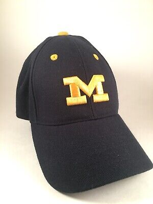 pretty nice 08162 7f344 MICHIGAN WOLVERINES TOP OF THE WORLD ONE FIT HAT CAP Fitted 6 7 8 One