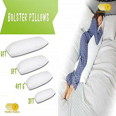 Non-Allergenic Bolster Pillows Cushion Long Body Supports Orthopaedic Pregnancy