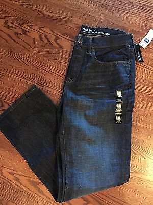 NWT Men's Teen Boys GAP Dark Blue Denim Relaxed fit jeans Size 30x32 NEW whisker