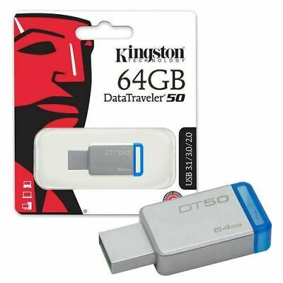 Kingston DT50 64GB Daten MP3 Speicher USB Stick 3.0 High Speed Datenübertragung