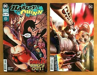 Harley Quinn 59 2019 Guillem March Main Cover + Derrick Chew B Variant DC NM