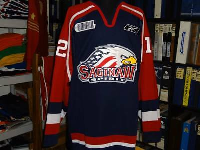 d0599cc2e Saginaw Spirit Game Worn Jersey
