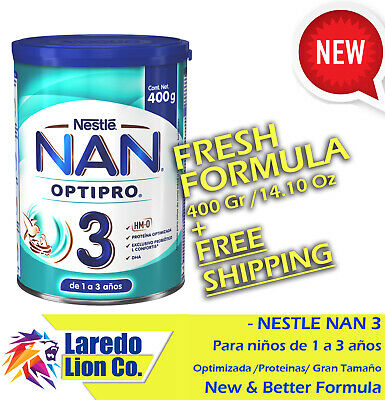 1 NESTLE NAN OPTIPRO 3 FORMULA - 400G - 14.10 Oz CAN - ENVIO GRATIS