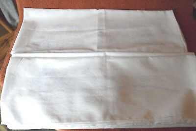 Two PAIR Vintage Floral Roses Pillowcases to Embroider-New Unused-4 Cases Total