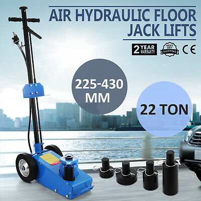 22 TON Super Low Profile Hydraulic Car Trolley Floor Jack Dual Pump Quick Lift