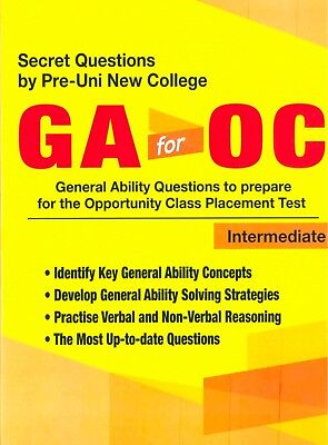 General Ability GA for Opportunity Class (OC) Examination - Intermediate