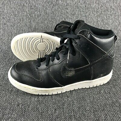 finest selection f182a 301c1 Boys Size 5.5 Y Nike Grade-School Dunk High Black Sneakers