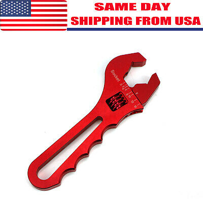3AN-16AN Adjustable Wrench Hose Fitting Tools Aluminum Spanner Red