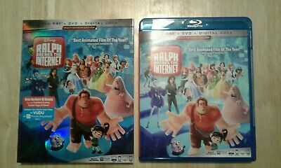 Ralph Breaks the Internet (Blu-ray, DVD, includes slipcover 2 Disc set