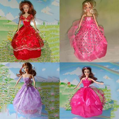 15-pcs Doll Dresses Clothes 5 Handmade Dress & 10 shoes for Toy Doll Decoration