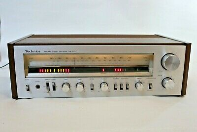 Vintage Technics SA-303 FM/AM Receiver Works Well, Dirty Knobs. Tested/Working