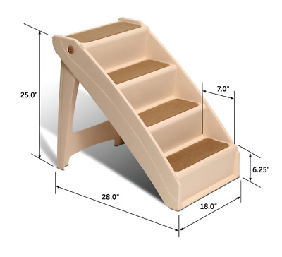 Dog Pet Ladder Bed Steps Portable Folding Stairs Extra Large Pet Up 200LBS